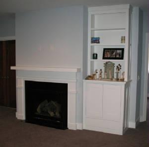 the gallery for gt built in bookshelves fireplace tv